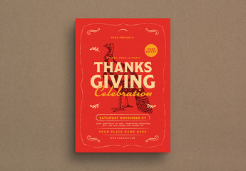 Thanksgiving Event Graphic Flyer Layout