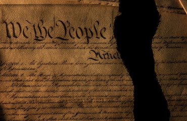 The US Constitution ripped in half