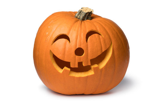 Orange kind smiling Halloween pumpkin