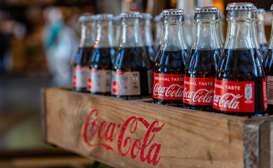 Cokes in a store in Rotterdam marktha , Netherlands