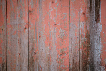 Old wooden boards on the fence as an abstract background