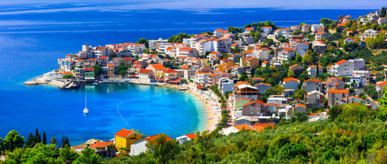 Amazing Adriatic coast. Beautiful beaches and villages of Croatia - Igrane in Makarska riviera
