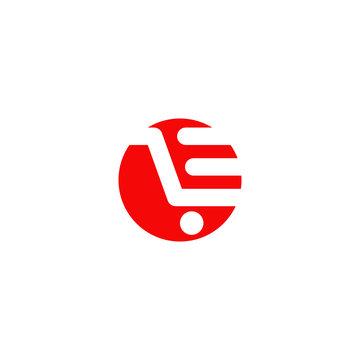 Shopping cart icon logo design vector template