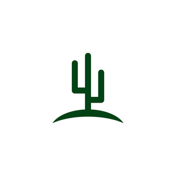 Cactus plant icon logo design vector template