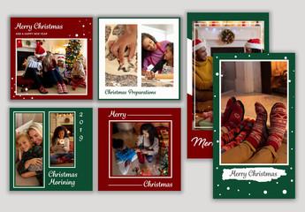 Christmas Social Media Layout Set