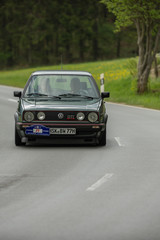 Brilon, Germany - May 13th in 2017: Oldtimer Sauerland round trip VW Golf GTI