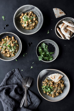 Chickpeas stewed with spices