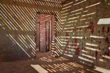 In the Ghost Town of Kolmanskop, Namibia