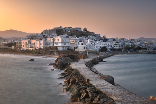 Chora Skyline in the Morning, Naxos, Greece