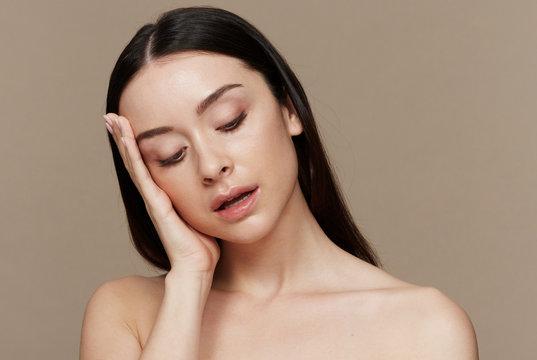 Woman pensive beauty portrait