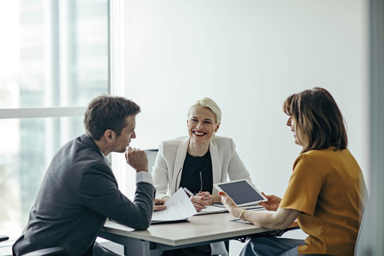 Businesspeople on a Interview