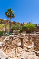 Capdepera Castle, fortress from the 14th century, located near Cala Rajada on the east coast of Majorca, Spain