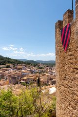 Historic city of Capdepera seen from Capdepera Castle located in the east of Majorca, Spain
