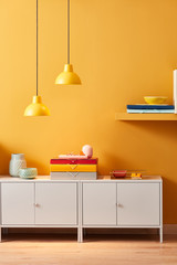 Bright design of office workplace