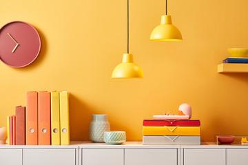 Multicolored design of office storage