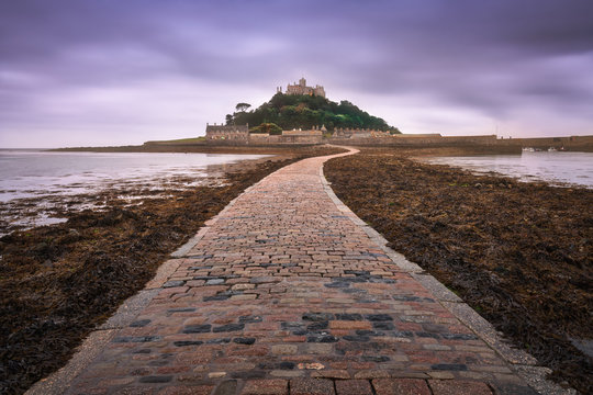 St Michael's Mount in the Moening, Cornwall, United Kingdom
