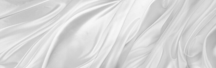 White silk fabric lines