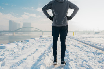 In de dag Wintersporten Winter Running