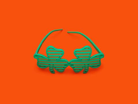Clover Glasses on Orange