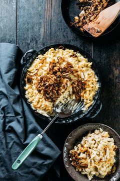 Food: Swabian K?_sesp?_tzle, noodles with cheese