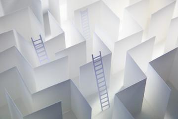 Paper Ladders Paper Maze