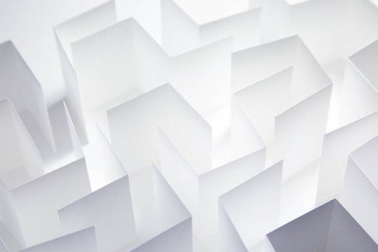 Paper Maze Abstract