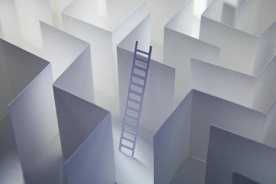 Paper Ladder in Paper Maze
