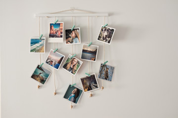 hanging frame for polaroid style pictures