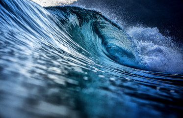 Perfect blue wave breaking