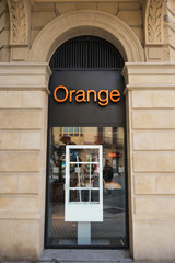 SAN SEBASTIAN, SPAIN - OCTOBER 17: Orange Shop On October 07, 2016 In San Sebastian, Spain. It is a mobile network operator and internet service provider, launched in 1993.
