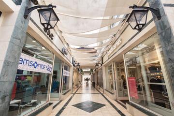 TENERIFE, SPAIN - FEBRUARY 20: Parque Santiago mall on February 20, 2016 in Tenerife, Canary island, Spain.
