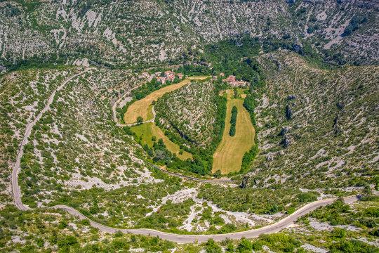 Cirque de Navacelles River Meanders Valley Glen defile narrow path France