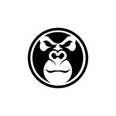 Gorilla head vector, monkey head vector, ape face logo
