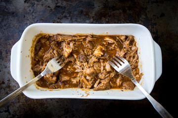 Slow Cooked Pork Shoulder With Apple BBQ Sauce