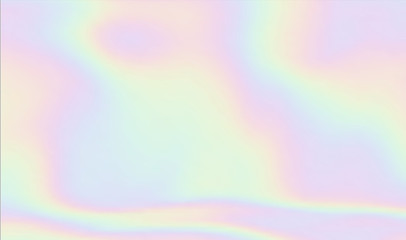 Holographic blurred background in rainbow pastel colors and fluid waves texture, perfect as wallpaper design or backdrop.