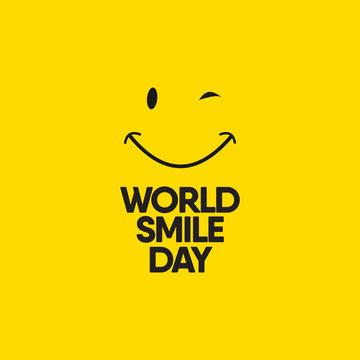 World Smile Day Celebrations Vector Template Design Illustration