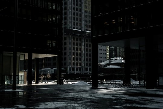 TD Plaza in Toronto during the winter