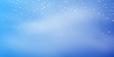 Fotomurales - Christmas Snow background. Winter Christmas snowstorm blizzard. Snowfall, snowflakes banner