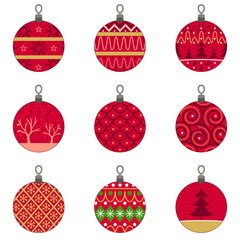 Different Designs of Christmas Baubles Ornaments