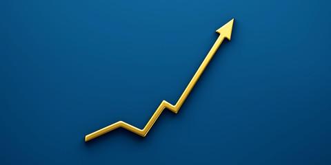 Finance Graph Arrow of Improvement. Success Background 3D Render Illustration
