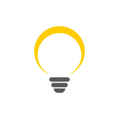 Lightbulb graphic design template vector isolated illustration