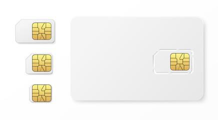 Realistic sim cards set