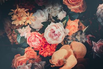 Foto auf Leinwand Blumen Flower background in vintage style