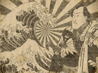 神奈川沖浪裏と男性 その3 vintage