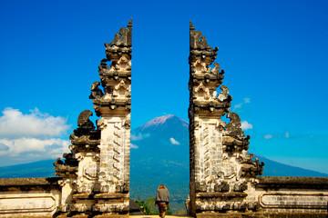 Candi Bentar Gate in Pura Penataran Agung Lempuyang - Bali - Indonesia