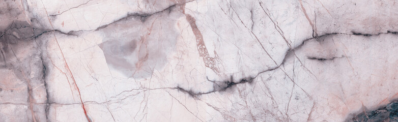 Natural marble stone texture background with grey curly veins, Pink colored marble for interior-exterior home decoration and ceramic tile surface, Quality stone texture with deep veins.