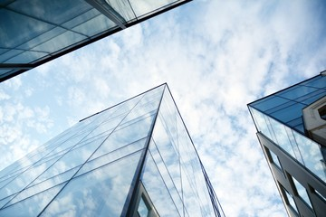 The windows of a modern building for offices. Business buildings architecture. Fotobehang