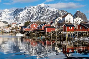 Winter in Reine in Norwegen