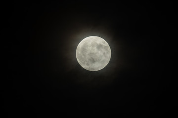 Picture of Full Moon and night sky