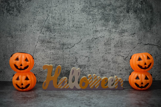 """Halloween holiday background with Letter sign word """" HALLOWEEN"""""""